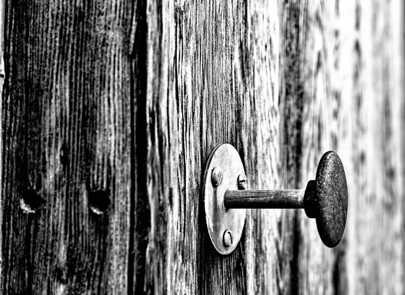 Urbex door knob from the Dog Track