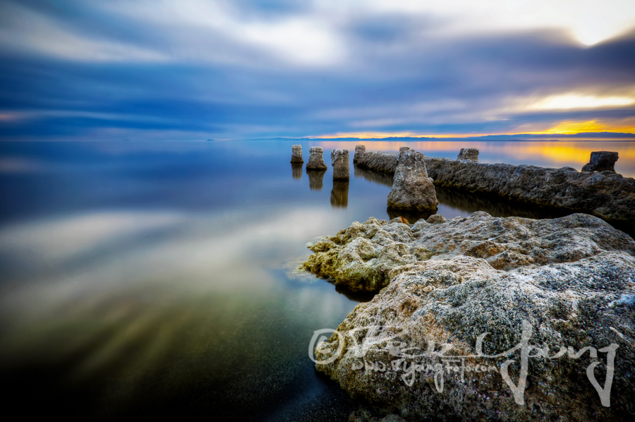 shoreline rocks at salton sea by Rick Young